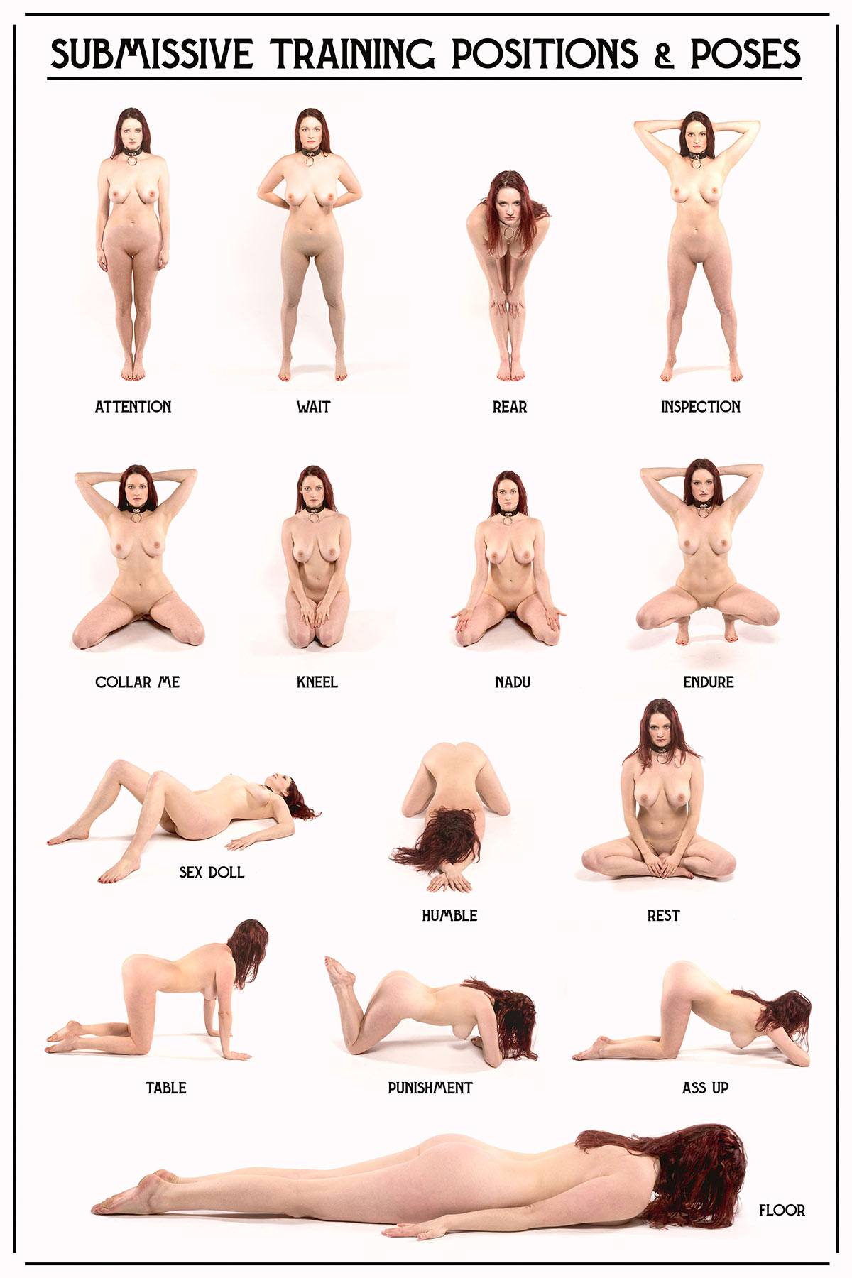 Submissvie Training Positions and Poses   Fetish   Photography