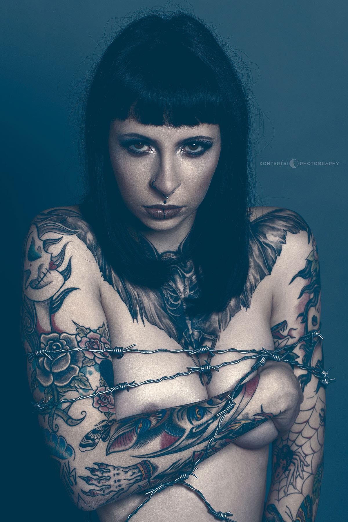 Bound Barbwire Beauty | Dark Beauty | Photography